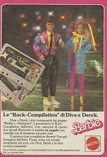 X1086 BARBIE - Le Rock Compilation di Diva - Mattel - Pubblicità 1986 - Advertis