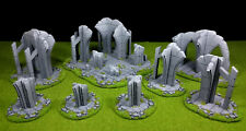8pc ruins set warhammer Wargame Terrain Scenery 28 mm Lot de décors ruines