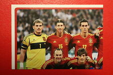 Panini EURO 2012 N. 283 ESPANA TEAM NEW With BLACK BACK TOPMINT!!