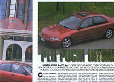 SP80 Clipping-Ritaglio 1992 Honda Civic 1.6 VTi 4p Per pochi intimi