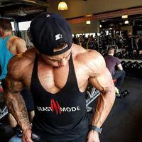 Men Beast Gym Fitness Bodybuilding Sport Tank Top Stringer Singlet Crossfit Vest