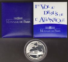 FRANCE  2002  I Vol au dessus de l'Atlantique - LINDBERGH  1,5 EURO ARGENT BE