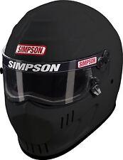 SIMPSON SPEEDWAY HELMET SNELL SA2015 MATT BLACK XL X-LARGE 62cm 7 3/4 HANS FIA