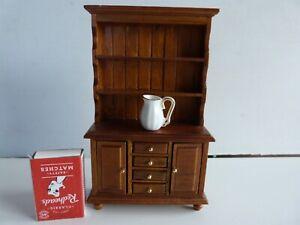 Doll's House Furniture Welsh Dresser Cabinet & Jug.