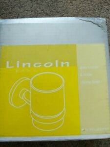 Lincoln Glass Tumbler And Holder Chrome Finish