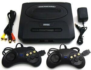 SEGA Genesis Model 2 MK-1631 Video Game System Bundle Controllers Classic Gaming