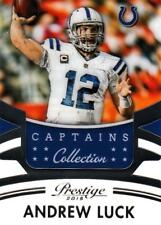 2015 Prestige Captain Collection #10 Andrew Luck Colts