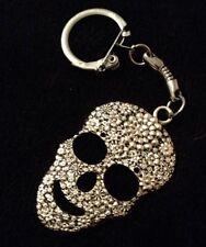 LRG Sugar Skull Keyring chain day of the dead pendant Flower rose Mexican **UK**