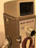 Bell & Howell 252 8mm Film Movie Camera Vintage Untested sold for parts  display