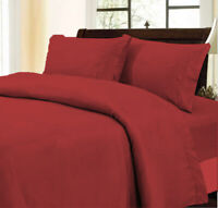 1000 Thread Count Glamorous Burgundy Duvet Collection Solid Choose Item&AU Size