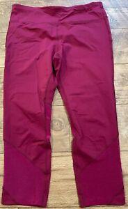 NIKE driFIT Purple EPIC LUX Athletic Capri Tight Leggings Pants womens L 842921