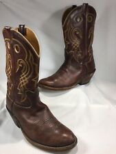 MEN SIZE 12W BOWMAN'S WILSON BOOT COMPANY BROWN WESTERN COWBOY BOOTS A2804