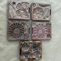 Vintage 1966 Mattel Thingmaker Accessory Mold Clown Dog Flower Bug Butterfly old