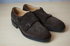 Churchs Seaforth Suede Dbl Monk Wingtip Dress Shoes 5 UK 6 US $550 NEW W/OUT BOX