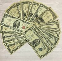 $1.00 Blue Seal, $2.00 Red Seal, & $5.00 Blue Seal Paper Money Collection.