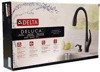 Delta DeLuca Single-Handle Pull-Down Sprayer Kitchen Faucet