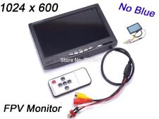7 inch LCD TFT FPV 1024 x 600 Monitor with T plug Screen FPV Monitor Photography