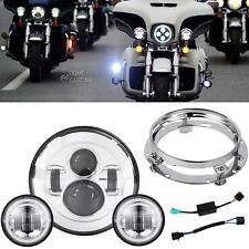 """New listing 7"""" Led Daymaker Headlight Passing Lights For Harley Electra Glide Ultra Classic"""