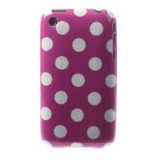 TPU Mobile Phone Case Cover Polka Dot Pouch for Apple 3 3G 3GS