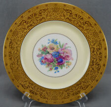 Heinrich & Co Dresden Floral Yellow & Gold Encrusted 11 Inch Dinner Plate