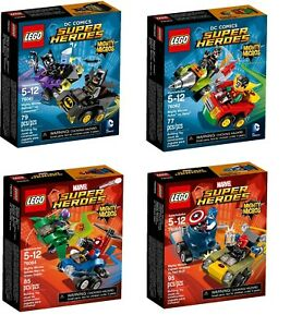 Lego Mighty Micros 76061, 76062, 76064, 76065 - Brand New (Free Postage)