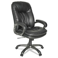 OIF Executive High-Back Leather Office Chair, Swivel/Tilt , Black, OIFGM4119