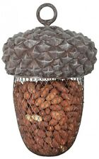 Wire Metal Hanging Acorn Shaped Bird Feeder Suitable for Peanuts 14x14x22cm