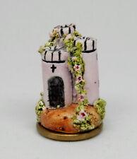 Vintage Kay Lewis Hand Painted Castle Keep Statue Dollhouse Miniature 1:12