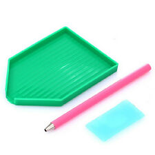 Nail Art Rhinestones Picking Pick Up Tool Pen + Clay + Dish Picker Pen Set