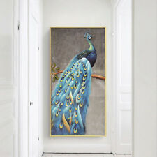 Peacock Oil Painting Silk Canvas Vintage Poster Art Wall Decor A331 Unframed