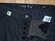 MARKS & SPENCER Autograph Slim Fit Straight Leg Men's Dark black Jeans Sz 38x31