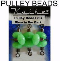 PULLEY BEADS  -  GREAT FOR RIG MAKING SEA PIKE FISHING TACKLE SIZE 2 SWIVELS