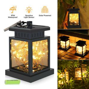 Solar Lantern Hanging Light LED Waterproof Patio Yard Garden Lamp Decor Backyard