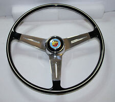 CLASSIC FIAT 500 600 750 850TC 595 695 ABARTH STYLE STEERING WHEEL 395mm UNIQUE!