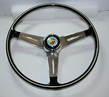 CLASSIC FIAT 500 600 750 850TC 1000 ABARTH STYLE STEERING WHEEL 395mm UNIQUE!