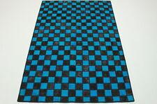 Patchwork Vintage moderne Orient Tapis bleu noir Design 250x160 chic 2975