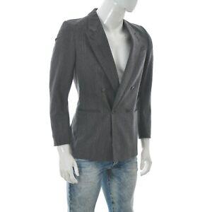 Tiger of Sweden Men's Double Breasted Birdseye Blazer Pure Wool Jacket Size 48
