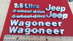 1985-1990 Jeep Cherokee Grand Wagoneer 4 Wheel Drive Emblem set 7pc