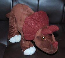 "Kohls Cares Triceratops Dinosaur Brown Dino Plush Stuffed Animal Toy HTF 14"""
