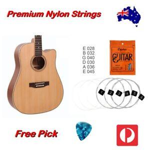Nylon Guitar Strings Acoustic Classical Orphee Premium Universal 28-45 Free Pick