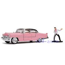JADA 1955 CADILLAC FLEETWOOD PINK W/ELVIS PRESLEY FIGURE 1/24 DIECAST CAR 31007