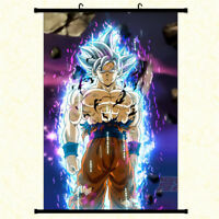 Anime Dragon Ball Z Goku Wall Scroll Poster Home Decor Art Cos Painting Gift #3