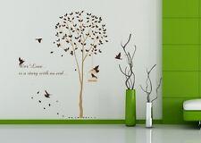 Wandtattoo Wandaufkleber Wanddeko Wandsticker Baum mit Vögel Zimmer Aufkleber