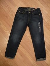 Womens NEW AE American Eagle Boy Fit Crop Dark Capri Cropped Jeans Size 4 R Reg