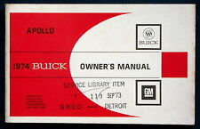Owner's Manual * Betriebsanleitung 1974 Buick Apollo  (USA)