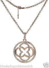 KETTE 70cm ✿ Portofino ✿ Strass Rotgold Kristalle Necklace Collier