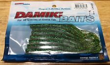 """DAMIKI BAIT CUTTER 5"""" Soft Lure 10pcs a Pack Color#206(Root beer/pep grn)"""