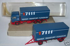 WIKING HO 1/87 CAMION MAN  REMORQUE TRANSIT BOX 2