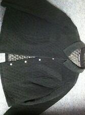 Briggs New York Size 22 W Black Jacket Coat Button Front Cord Design