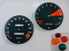 Honda CB 750 Four K1 Tachoscheiben + Linsen Set KM/H Face Plates + Pilot Lamps